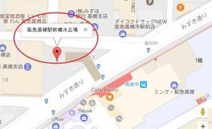 高槻市駅噴水広場